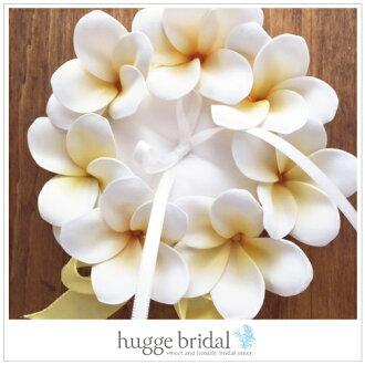 雞蛋花戒指枕頭 (手工製作工具組) 手工枕婚禮玩具婚禮海外枕頭別致度假婚禮夏威夷海外婚禮的套件手工製作的工具組