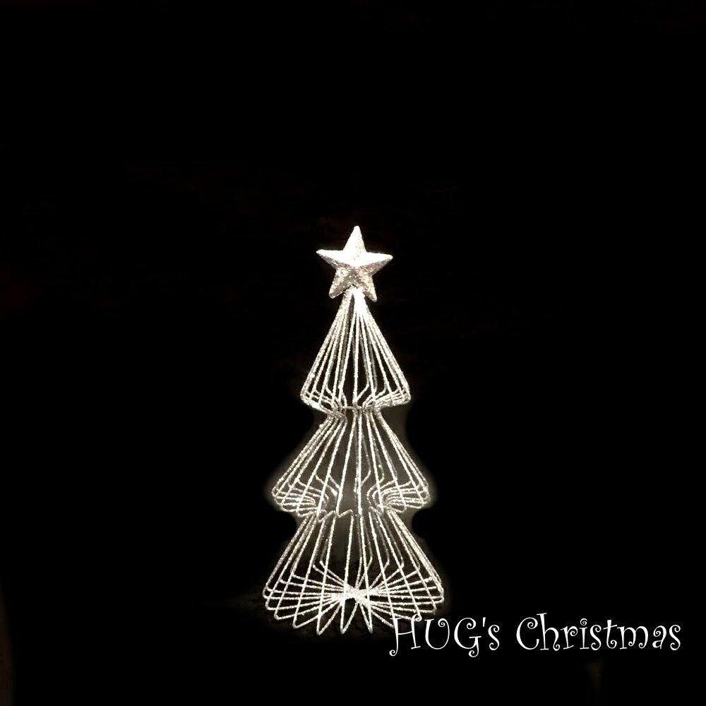 HUGセレクトクリスマスオーナメントラメワイヤーツリーシルバーS2715おもちゃ・ホビー・ゲームパー