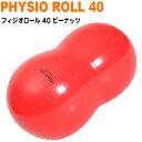 ギムニク フィジオロール 40cm レッド バランスボール ヨガボール ピーナッツ Physio Roll 赤 ギムニクボール ピーナッツ型 ヨガ バランス感覚 リハビリ 体幹 姿勢 ストレッチ リラックス キッズ 子供 子ども こども 【k-8801】