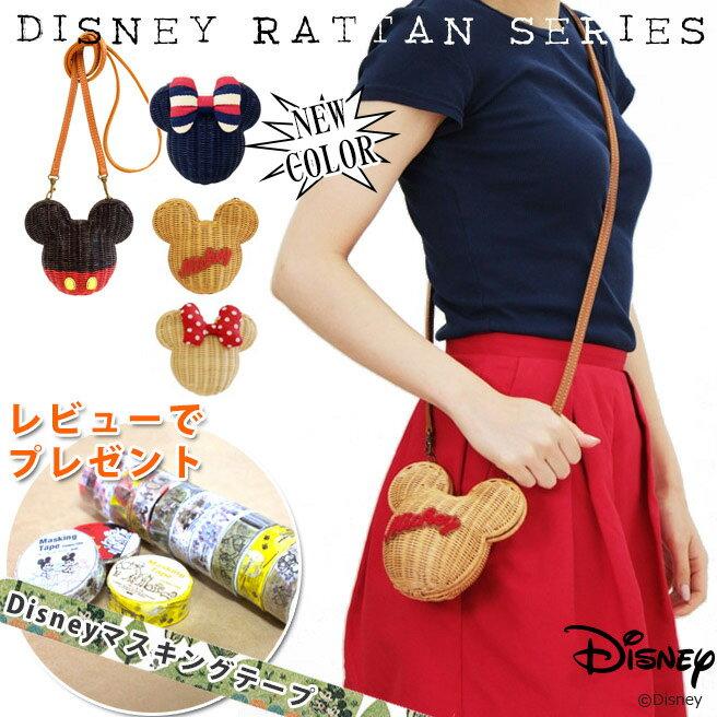 アコモデ ディズニー ラタンポシェット Disney Rattan Bag ミッキー ミニ…...:huitcolline:10004509