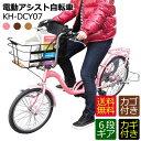 電動アシスト自転車 20インチ 24インチ ビッグバスケットつき 低床設計安定タイプ LEDライト カギ付き MIMUGO SUISUI KH-DCY07