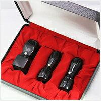 黒水牛[極上]3本セット天丸 実印18.0mm+銀行印16.5mm+角印21.0+24.0mm 高級印鑑ケース付  宅配便発送10P05Nov16