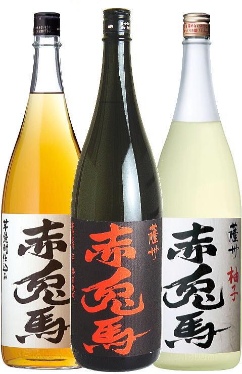P10倍5/25(土)~30(木)赤兎馬柚子酒梅酒芋焼酎1800ml3本セットいも焼酎うめ酒ゆず酒う
