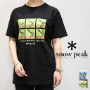 【SALE 50%OFF】snow peak スノーピーク  トートラインヒッチTシャツ TAUT LINE HITCH T-SHIRT 19SU102
