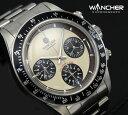 【1004】【WANCHER/ワンチャー】【腕時計】Chronograph/クロノグラフ ルマンエキゾチック 機械式 手巻き 白文字盤エレガントなデザイ…