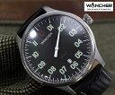 【1005】【WANCHER/ワンチャー】【腕時計】機械式 自動巻き Cifra-Z 黒文字盤コクピット ゼロ ワンハンドウォッチ少量生産モデル 【即…