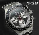 【1003】【WANCHER/ワンチャー】【腕時計】Chronograph/クロノグラフ ルマンエキゾチック 機械式 手巻き少量生産モデル 黒文字盤【即納/送料無料】【Wancher】