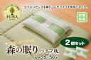 ピロー ヒバエッセンス練り込みパイプ使用 2個組 約35×50cm 寝具 枕 ピロー 2個セット 防ダニ効果 森林浴の眠り パイプ使用