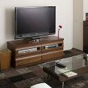 テレビ台 幅120cm ダークブラウン TE-0026 天然木製 アルダーコーナーTVユニットシリーズ/同じシリーズのコーナーテレビ台と組み合わせ..