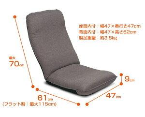 座椅子職人ヤマザキ社製:激安価格で職人手作り!腰にやさしいヘッドリクライニング座椅子+専用カバーセット