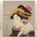 喜多川歌麿 3 巧芸版画 浮世絵 色紙