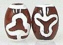 菩薩天珠(小)(1個)チベット 天珠 バラ売り 天然石 1粒売り 1玉 パーツ 風水グッズゆうパケット送料無料 auktn