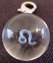 星座別☆人工水晶球ストラップです。人工水晶玉ストラップしし座(01-0416)