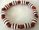 世界中で人気!!神の霊石、チベット天珠のブレスレットです。天珠 線珠ブレスレット(小)(赤)【44%OFF】【円高差益還元セール】