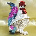 風水グッズ セレブ鶏 ジュエリーボックス(小)(片脚立タイプ)(Hタイプ)干支 ニワトリ 置物 タイ産 幸せを呼ぶ 置物 飾り物 癒し 開運祈願送料無料 asu auktn