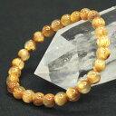 ゴールド タイチンルチルクォーツ ブレスレット 7mm AAAAA級天然石 パワ...