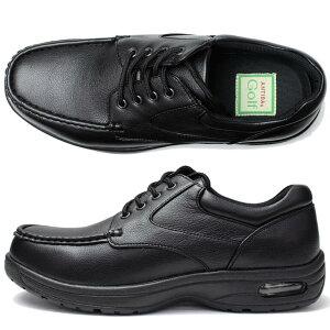 【軽量幅広4E紳士靴】ビジネスシューズアンチバゴルフウォーキングシューズANTIBAGolf靴ビジネスシューズメンズ靴紳士男性/AN8212[機能性ビジネスシューズ紳士靴ブラック黒【送料無料】