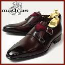 マドラス革靴 madrasビジネスシューズ madras 革靴 マドラス ビジネスシューズ メンズ 紳士靴 男性用/M223-BURWIN [マドラス 革靴 ビジネスシューズ 本革 日本製 ダブルモンクストラップ ビークトゥ/スエード/コンビ]