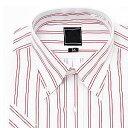 [楽天スーパーSALE11%OFF]上質綿混 ボタンダウン 半袖ワイシャツ Yシャツ 半袖 ワイシャツ トップヒューズ加工 メンズ ビジネス[レッド/白/ストライプ/クールビズ/大きいサイズ/制服/カッターシャツ/ドレスシャツ/ユニフォーム/おしゃれ/通販/あす楽][10P03Dec16]