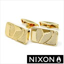 NIXON カフス ニクソン カフリンクス バッジカフリンクス ( Badge Cuff Links ) メンズアクセサリー/TP-NIXON-1501GOLD [レア ギフト プレゼント ブランド 数量限定]【あす楽対応】【送料無料】