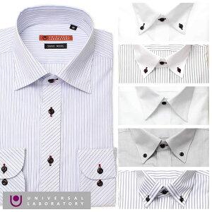 ユニバーサルラボラトリーワイシャツ[UNIVERSALLABORATORYメンズシャツ](UNIVERSALLABORATORYワイシャツユニバーサルラボラトリーメンズシャツ)メンズワイシャツ/DAUL81[おしゃれストライプシャツ形態安定青白]