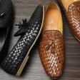 LUCIUS (ルシウス) メンズ 革靴 ドレスシューズ 本革 ビジネスシューズ 革 レザー ビジネス シューズ/紐靴/紳士/靴/紳士靴/LLT70-2-K [ブランド/フォーマル/きれいめ/結婚式/パーティ/おしゃれ/黒/ブラック/ブラウン]イントレチャート 編込み タッセルローファー