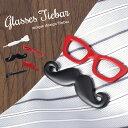 ユニークにおしゃれを楽しむ 眼鏡 メガネ ひげ タイピ