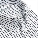 ボタンダウン 長袖ワイシャツ メンズ 長袖 ワイシャツ Yシャツ トップヒューズ加工ビジネス 結婚式[黒/ネイビー/ボタンダウン/ストライプ/大きいサイズ/制服/出張/通勤/カッターシャツ/ドレスシャツ/秋/冬/S・M・L・LL・3L/ユニフォーム]【あす楽】