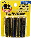 ポケット アルカリ乾電池 単3 4P 100円ショップ
