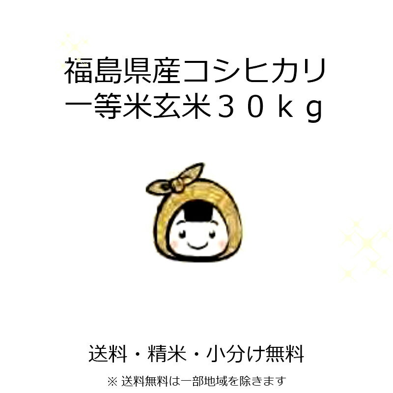 28年 新潟県産 こしひかり 玄米 30kg 一等米【米30kg 送料無料】コシヒカリ