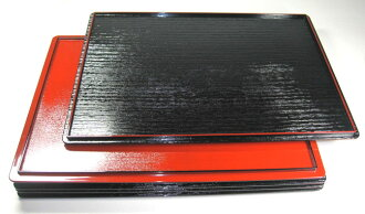 As 39cm long corner both sides low dining table (Kuroki eyes, the red texture) tray, a dinner-tray, luncheon mat 10P02jun13 10P01Sep13