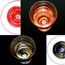 天野漆器:杯[クリスタル] 金桜(貝入) 朱/黒 ※色をお選びください。