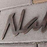 表札【】職人の技シリーズ真鍮・銅製厚さ5mmアンティーク風切文字表札「Big」