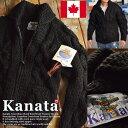 Kanata カナタ カウチンセーター メンズ レディース ジャケット ブラック■04161015