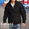 【11%OFF】Kanata カナタ カウチンセーター メンズ レディース ジャケット ブラック■04161015【1612ka】