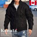 Kanata カナタ カウチンセーター メンズ レディース ジャケット ブラック■04161015【dan】