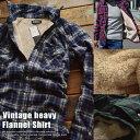 ボアジャケット シャツジャケット 裏起毛ネルシャツ カジュアルシャツ 長袖シャツ メンズ 厚手 81611 全10色■04161010