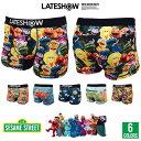 LATESHOW レイトショー SESAME STREET セサミストリート ボクサーパンツ 下着 メンズ 【MB】【GAL】■051702...