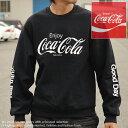 コラボ商品 コカ コーラ FRUIT OF THE LOOM トレーナー メンズ 長袖 フリース 923-540CC28 ブラック■05171011