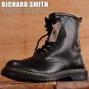 RICHARD SMITH 8ホール ブーツ シンセティック レザー EEE メンズ サイドZIP 9300 Y_KO ■180223