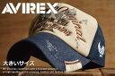 大きいサイズ AVIREX メッシュキャップ キャップ 帽子...