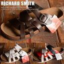 【期間限定10%OFF!】RICHARD SMITH PU レザー クロスベルト カジュアル サンダル メンズ 7961 Y_KO 180530