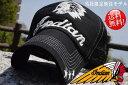 ショッピングメッシュキャップ 【期間限定10%OFF!】送料無料 Indian Motocycle 尾園デザイナー別注モデル IA-913 インディアン モトサイクル メッシュキャップ キャップ メンズ レディース 帽子 IN 180705