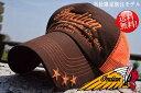 送料無料 Indian Motocycle 尾園デザイナー別注モデル IA-907 インディアン モトサイクル メッシュキャップ キャップ メンズ レディース 帽子 IN 180705