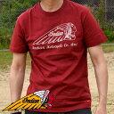 Indian Motocycle インディアンモトサイクル Tシャツ 半袖 メンズ ブランド プリント ロゴ お洒落 IC-2455 ダークレッド 赤 190522