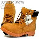 訳あり アウトレット ブーツ メンズ イエローブーツ ワークブーツ RICHARD SMITH 6インチ 4cm防水 靴 シューズ RS3159 イエロー 黄
