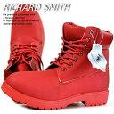 訳あり アウトレット ブーツ メンズ イエローブーツ ワークブーツ RICHARD SMITH 6インチ 4cm防水 靴 シューズ RS3159 レッド 赤