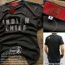 Indian Motocycle インディアンモトサイクル Tシャツ メンズ クルーネック フェルトアップリケ カットソー トップス メンズファッションIC-2143 ブラック【あす楽対応】【YDKG-k】【kb】【H-TS】■02140409