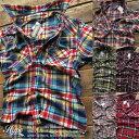 カジュアルシャツ メンズ 半袖シャツ ウエスタンシャツ チェックシャツ 薄手 アメカジトップス メンズファッション55436/55437 全6色【あす楽対応】【YDKG-k】【kb】【H-SH】■02140620