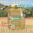 生マヌカハニー【MG100+】酵素が生きている天然マヌカ蜂蜜[ワイルドハニー]340g(単品)